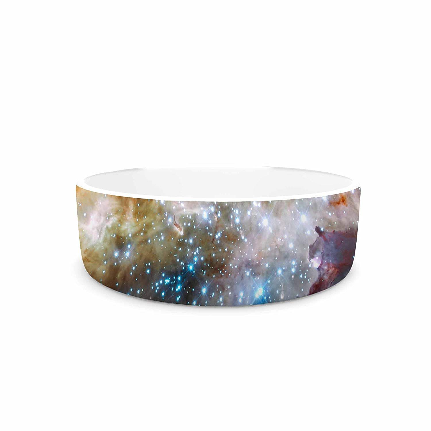 KESS InHouse Suzanne Carter Star Cluster  bluee Space Pet Bowl, 4.75