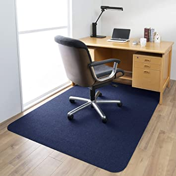Dark Blue 1//6 Thick 63x51 Low-Pile Office Desk Chair Mat for Hardwood Floors Office Chair Mat Multi-Purpose Protector Chair Carpet for Home Upgraded Version Hard Floor Mat for Desk