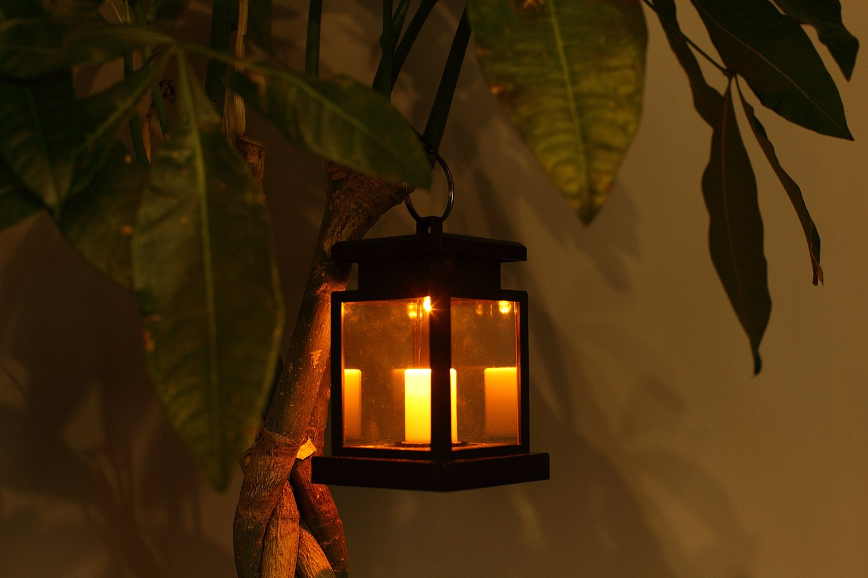 Outdoor Solar Light LED Candle,MeiLiio Waterproof LED Garden Lights Solar Yard Decoration Umbrella Tree Chandelier Lantern Hang Path Lights Solar Hanging Lamp