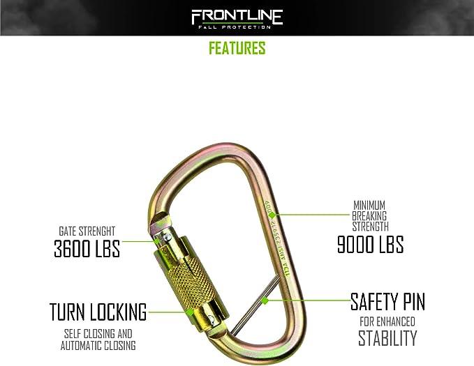 Frontline CSQ184 - Mosquetón de cierre giratorio (acero ...