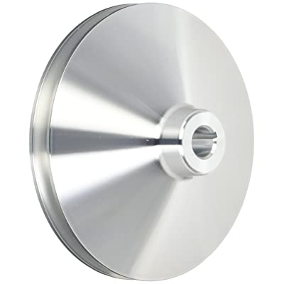 March Performance 523 Clear Powdercoat Aluminum 1-Groove Power Steering Pulley with Keyway: Automotive