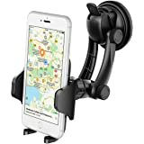 Car Mount Holder, VicTsing Universal Windshield Car Phone Mount Holder Cradle with Strong Sticky Suction Pad for Apple iPhone 7 7 Plus 6 Plus 6s 5s 5c 5 4s 4, Samsung, HTC, Sony, LG, Other Smartphones