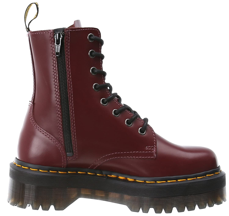 Dr. Martens Women's Jadon Boot B00BC3V792 7 UK/9 M US|Cherry Red