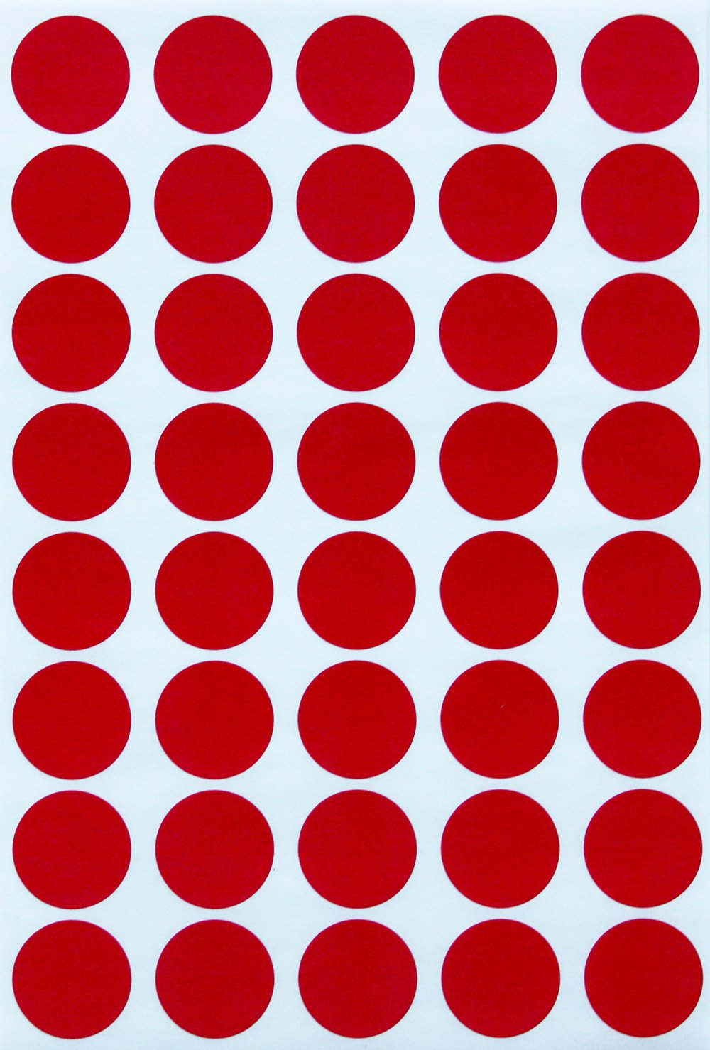 Amazon com round stickers color dots labels 19mm 3 4 inch red 600 pack by royal green office products