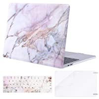 Mosiso MacBook Pro 13 Case 2018 2017 2016 Release A1989/A1706/A1708, Plastic Hard Case Shell with Keyboard Cover with Screen Protector for Newest MacBook Pro 13 Inch, Colorful Marble