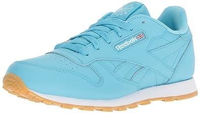 63c8add72cf19 Reebok Unisex Classic Leather Sneaker Crisp Blue White Gum 3.5 M US Big Kid