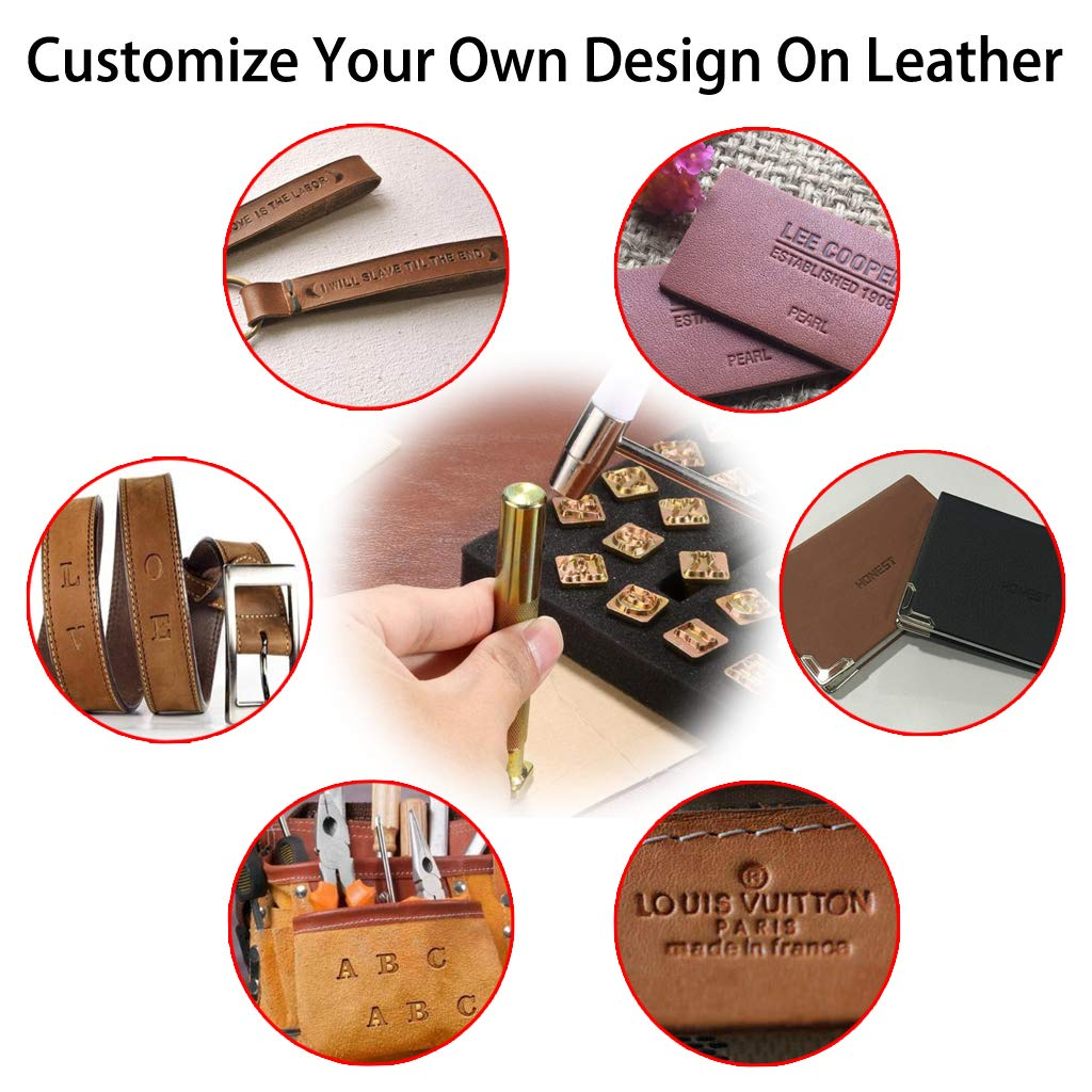 """1//2/"""" OwnMy 27 PCS Capital Letters Stamp Set 13mm Alphabet Stamp Tools Set Leather Craft Stamping Tools Leather Art Craft Tool"""