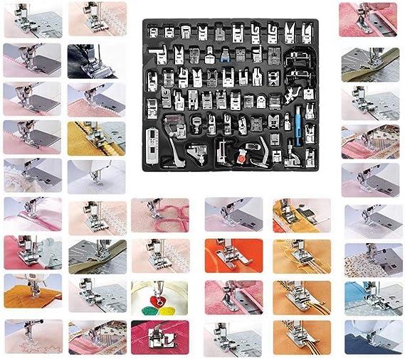 Kit Juego de pies de prensatelas de m/áquina de Coser de 32 Piezas pies de prensatelas de fabricaci/ón Profesional de Costura para Piezas y Accesorios de la m/áquina de Coser Singer de Janome Brother