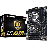 Gigabyte Z170-HD3 DDR3 scheda madre (Socket 1151, Z170 Express, DDR3, S-ATA 600, ATX, PCIe Gen3 x4 m, 2 connettore, PCI Express 3,0)