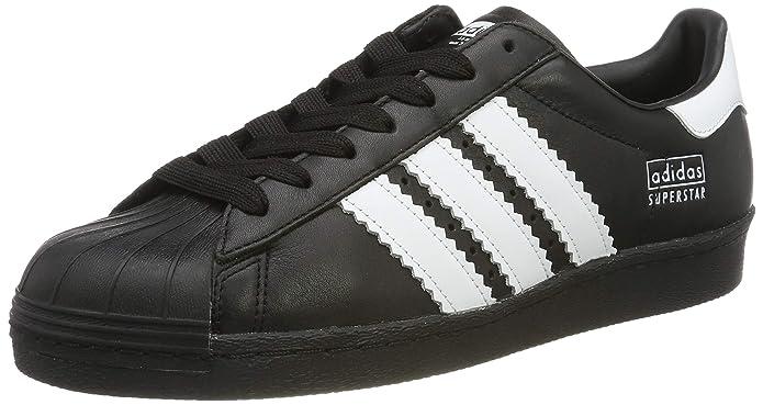 adidas Superstar Schuhe Herren Low-Top schwarz mit weißen Streifen