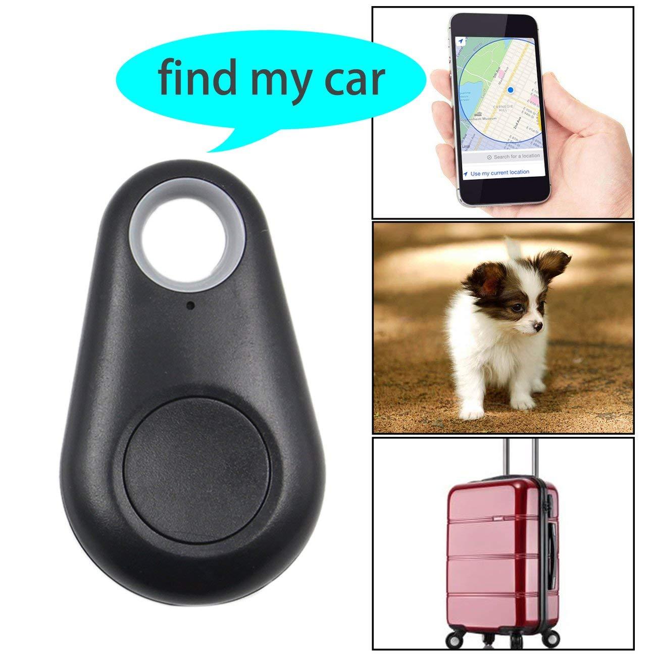 MachinYesity 4.0 Smart Finder Dispositivo di allarme GPS bidirezionale anti smarrimento Intelligente Pet Trace Localizzatore Portafoglio Key Tracker nero
