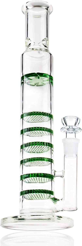 REANICE Alto Bong 18.8mm 13inch Honeycomb Verde Bongs Hechos a Mano de Vidrio bubblers Grandes de Agua de Cristal de Nido de Abeja