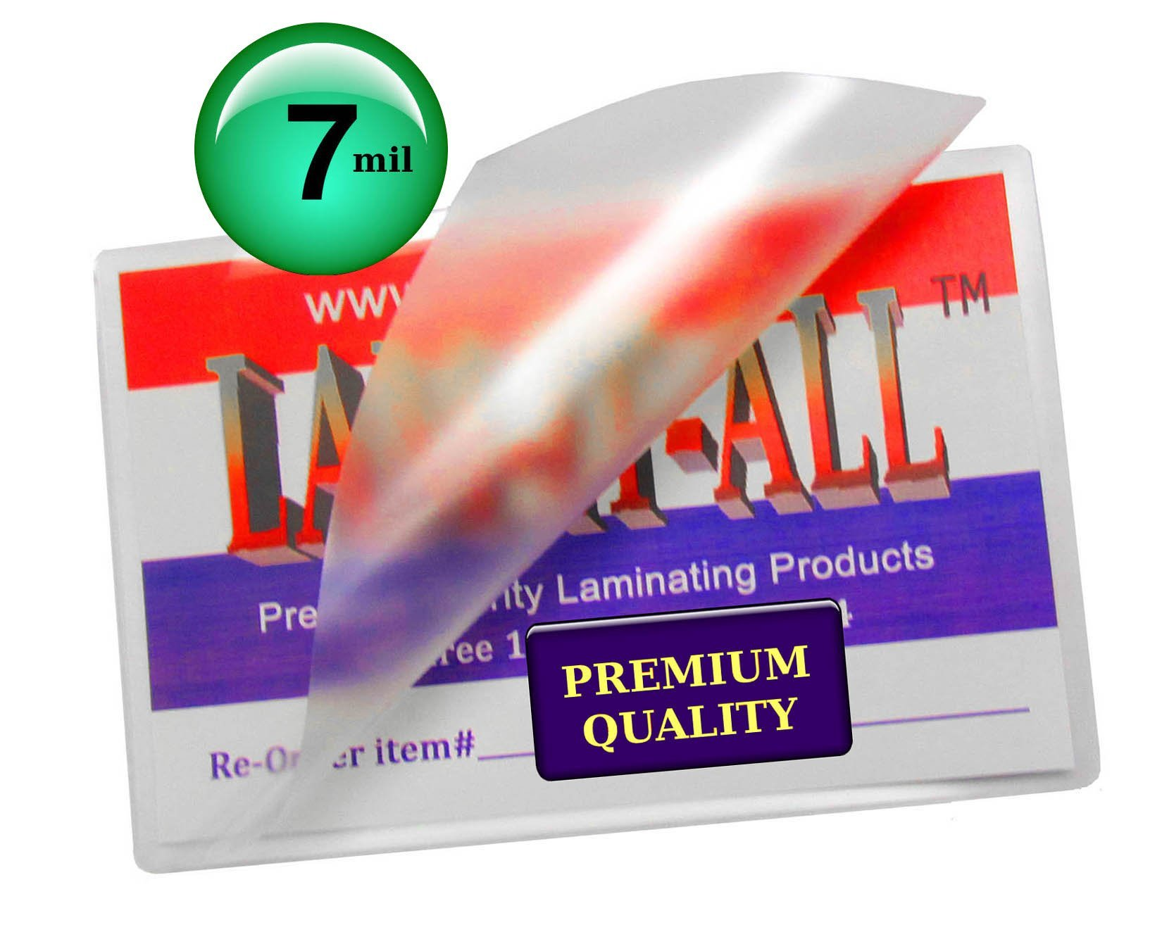 7 Mil Business Card Hot Laminating Pouches 2-1/4 x 3-3/4 [Pack of 100] Clear by LAM-IT-ALL