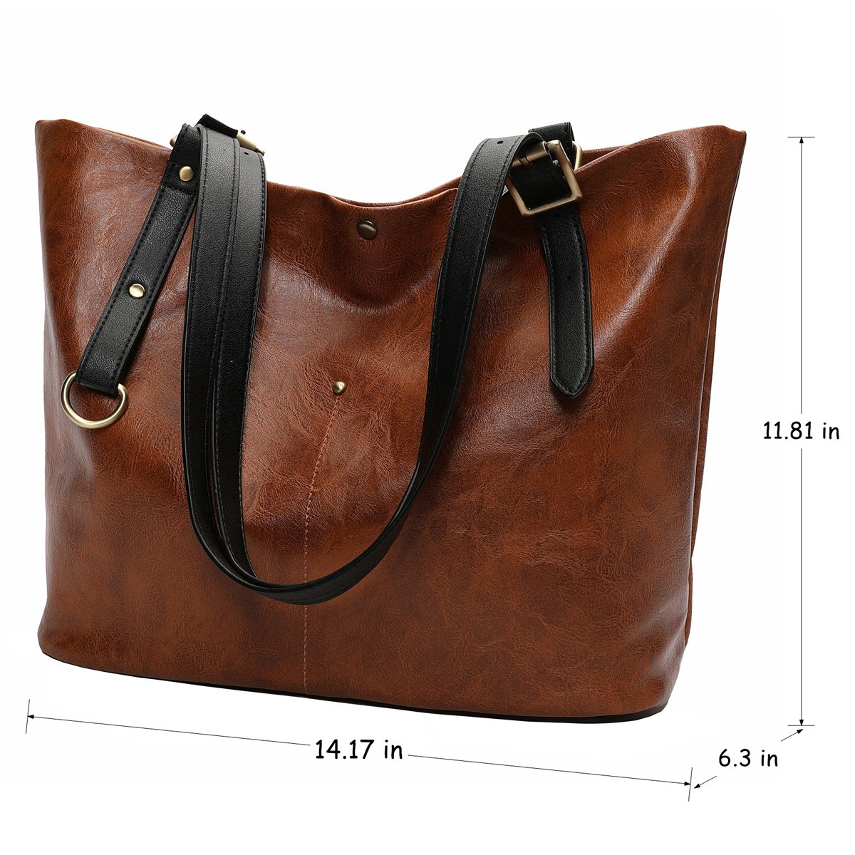 Mn/&Sue Retro Tote Bags Women Shoulder Satchel Large Capacity Handbags Work Carryall
