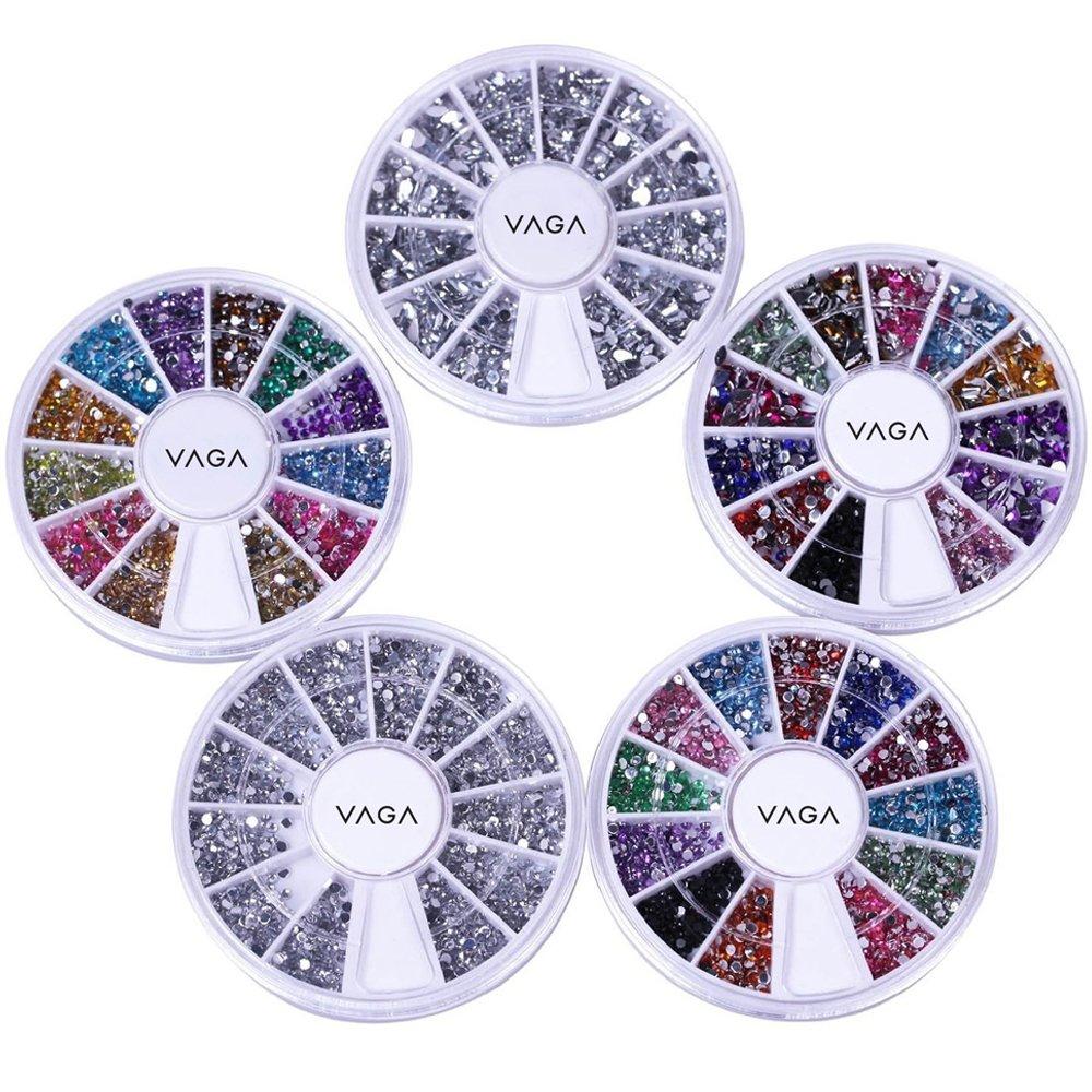 Amazon.com : Bundle 5 Wheels Premium Manicure Nail Art Decorations ...