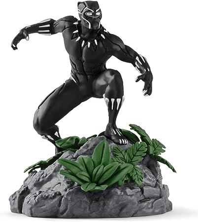 Figura Black Panther, también conocida como Pantera negra.,Modelada con gran detalle y pintada minun