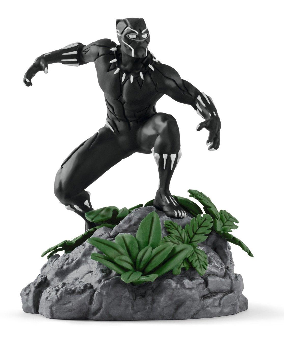 Black Panther Figurine Marvel Comics Statue Avengers Peinte Mains Schleich 21513