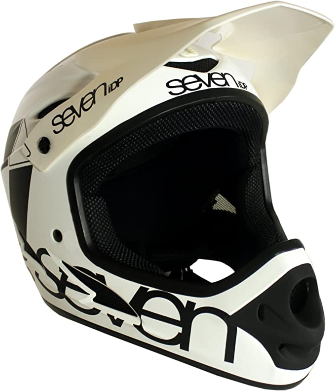 7 Protection M1 Casco Bicicleta Descenso Integral, Hombre, Blanco ...