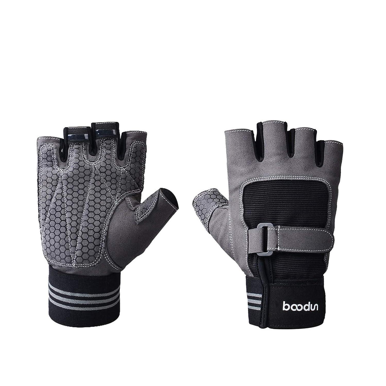Blisfille Fitness Handschuhe Herren Damen Sportgeräte Rutschfeste Übung Gewichtheben Handschuhe Halbe Finger Handschuhe Größe
