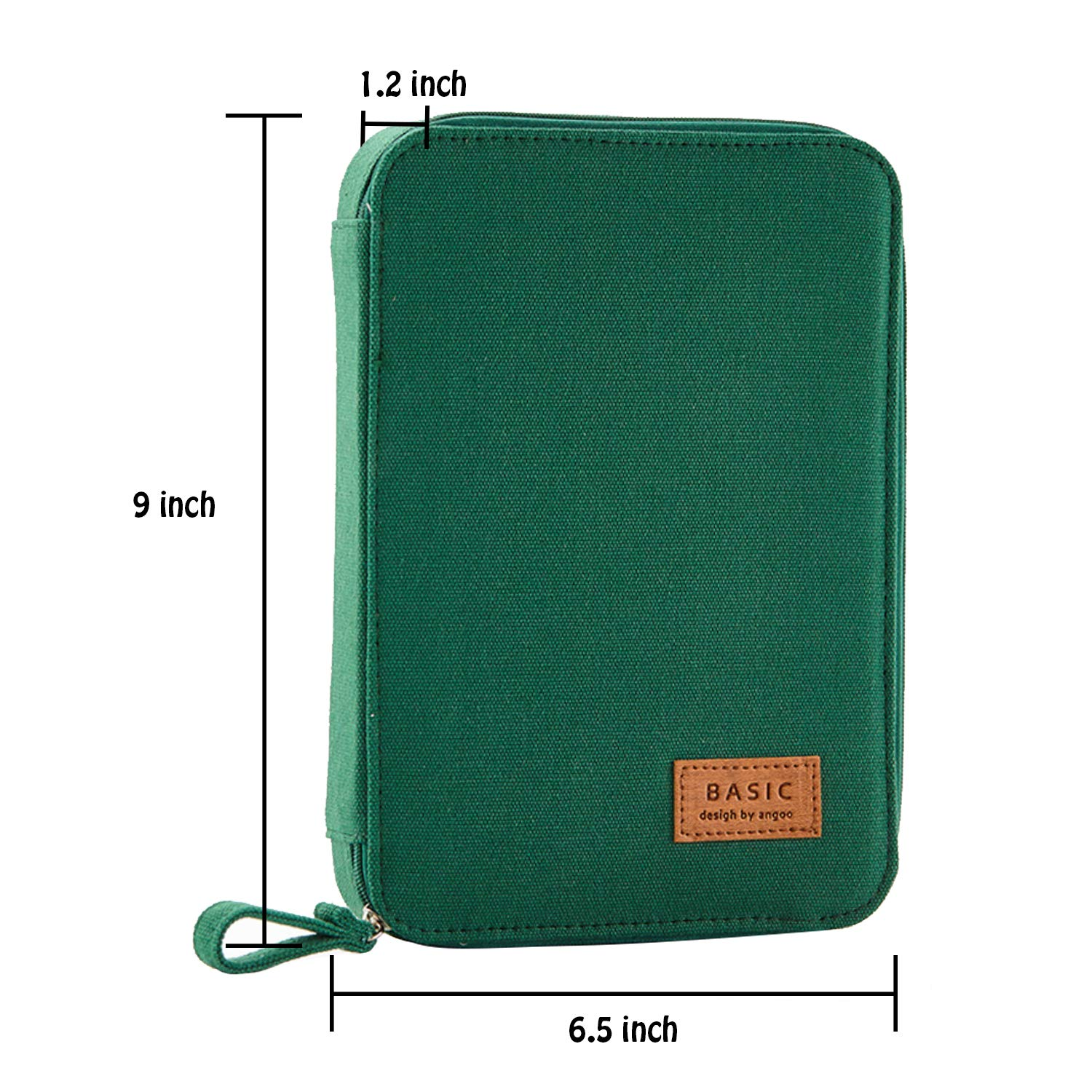 2f3044e8e352 izBuy Zipper Pencil Case Stationery Organizer, Durable Canvas Big Capacity  Pen Holder Multifunctional Pouch Box, Office School Supplies with a ...