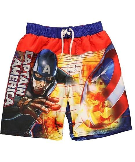 13c177f7c643e Amazon.com: Captain America the Winter Soldier Boys Swim Trunks Xs ...