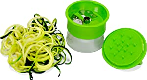 Handheld Spiralizer Vegetable Slicer Noodle Maker Spiral Cutter, Green