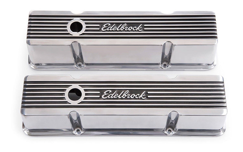 Edelbrock 4263 Valve Cover Kit (Elite II Series SBC Tall)