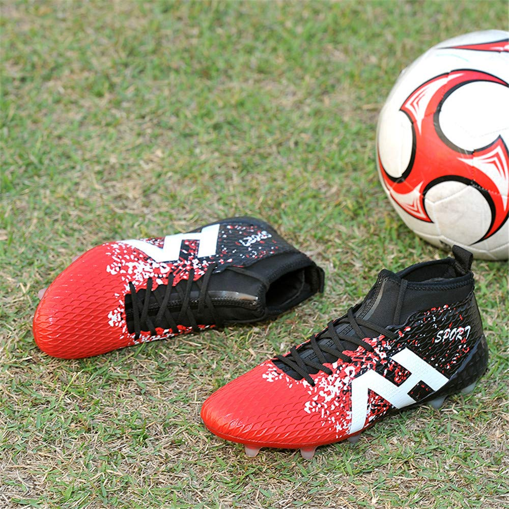 LEODI Soccer Boots Mens Sport FG Football Boots Kids Boys Outdoor Waterproof Sneakers
