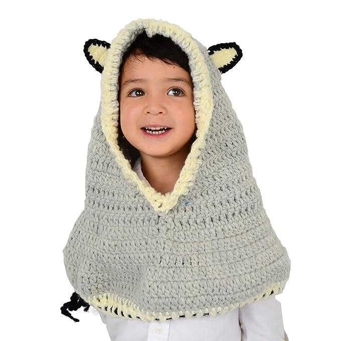Gran Lobo capucha - gris lobo capucha y capucha para niños para ...