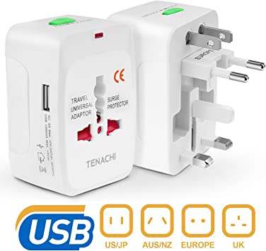Worldwide Travel Adaptor All-in-one Universal Power Converter Plug EU//US//AU//UK