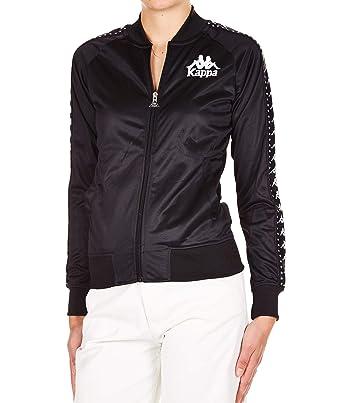 d7c9c0a9 Kappa Women's 3031QH0907 Black Polyester Sweatshirt: Amazon.co.uk ...