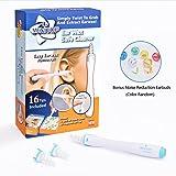 Nettoyeur d'Oreilles, Kit d'enlèvement de cire d'oreille, nettoyant à cire d'oreille, cire d'épilation en spirale doux avec 16 têtes de remplacement en silicone jetables améliorées pour bébé, hygiène de l'oreille familiale + bouchons d'oreille de réduction de bruit bonus (bleu) par MEXITOP