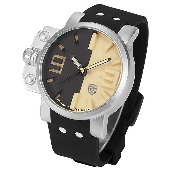 Salmon Shark Deportivos Relojes De Pulseras Hombre Silicona SH170: Amazon.es: Relojes