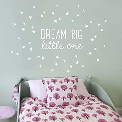 9fb666879 Koko Kids Dream Big Little One Fabric Wall Decal ~ for baby nursery and  children s rooms