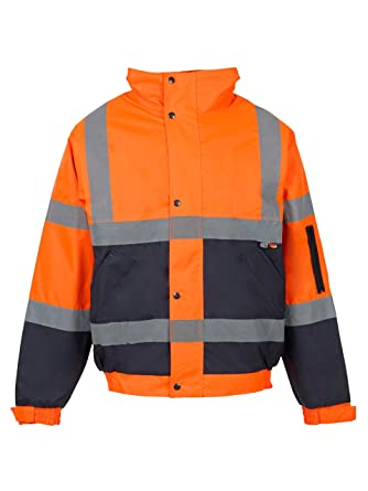 Love My Fashions® Hombres Alta Visibilidad Chaqueta Impermeable ...