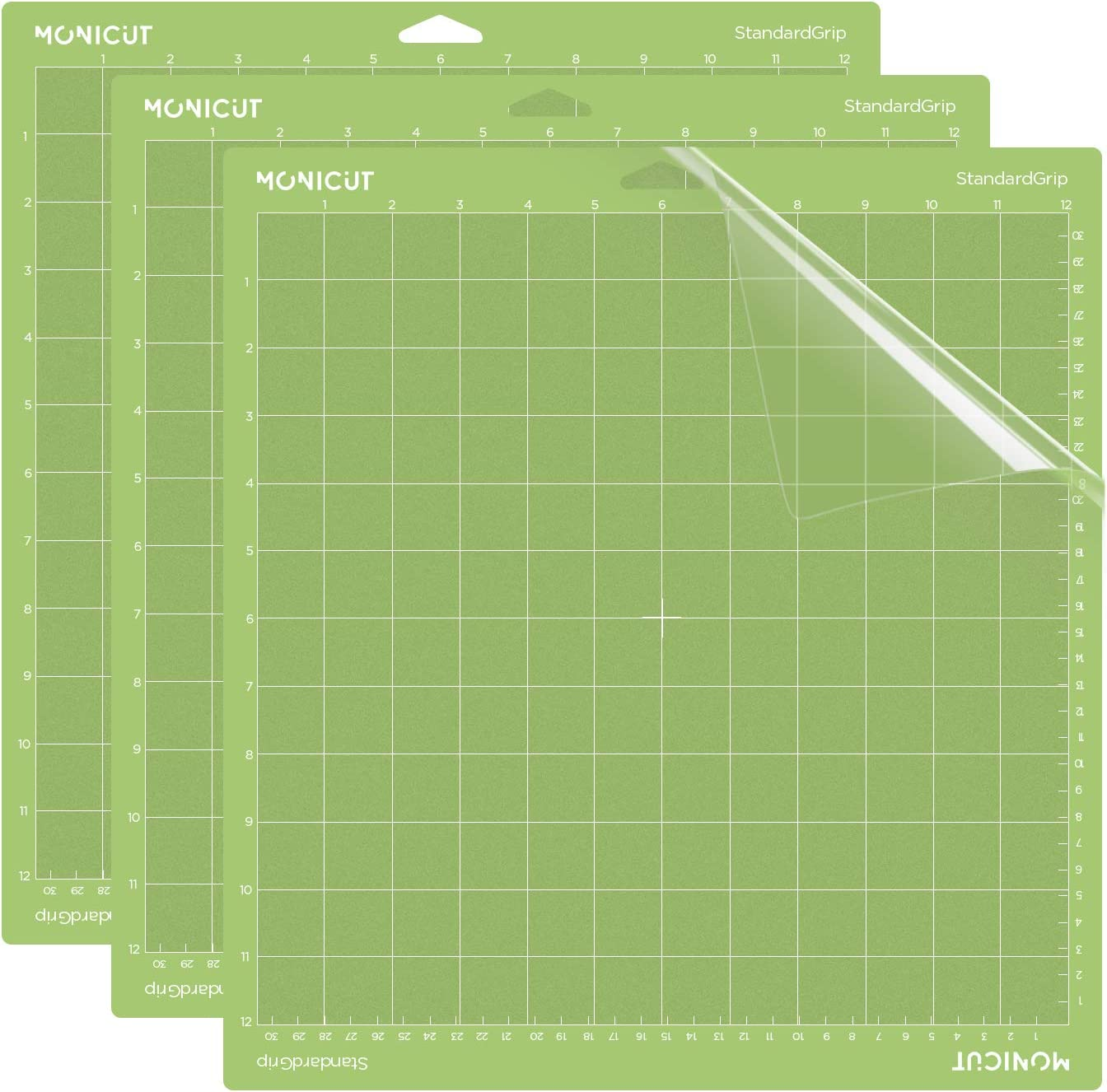 3 Mats,12x24 inch Perfect for Crafts Arts Blue Light Adhesive Cut Mats Replacement Accessories for Cricut Quilting REALIKE LightGrip Cutting Mat for Cricut Explore One//Air//Air 2//Maker