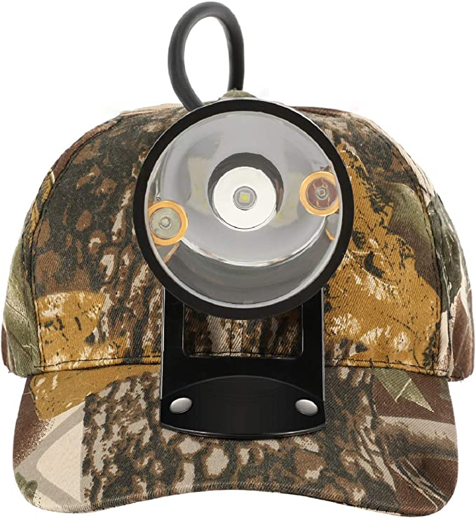 Kohree CREE 80000 LUX LED Coyote Hog Coon Hunting Light, Rechargeable Predator Hunting, 3 LED Cap Light - Best Budget Pick
