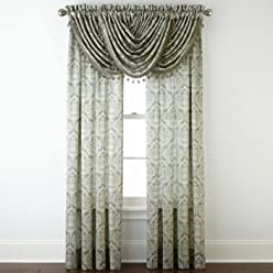 Royal Velvet Hilton Damask Rod-Pocket Curtain Panel, 54