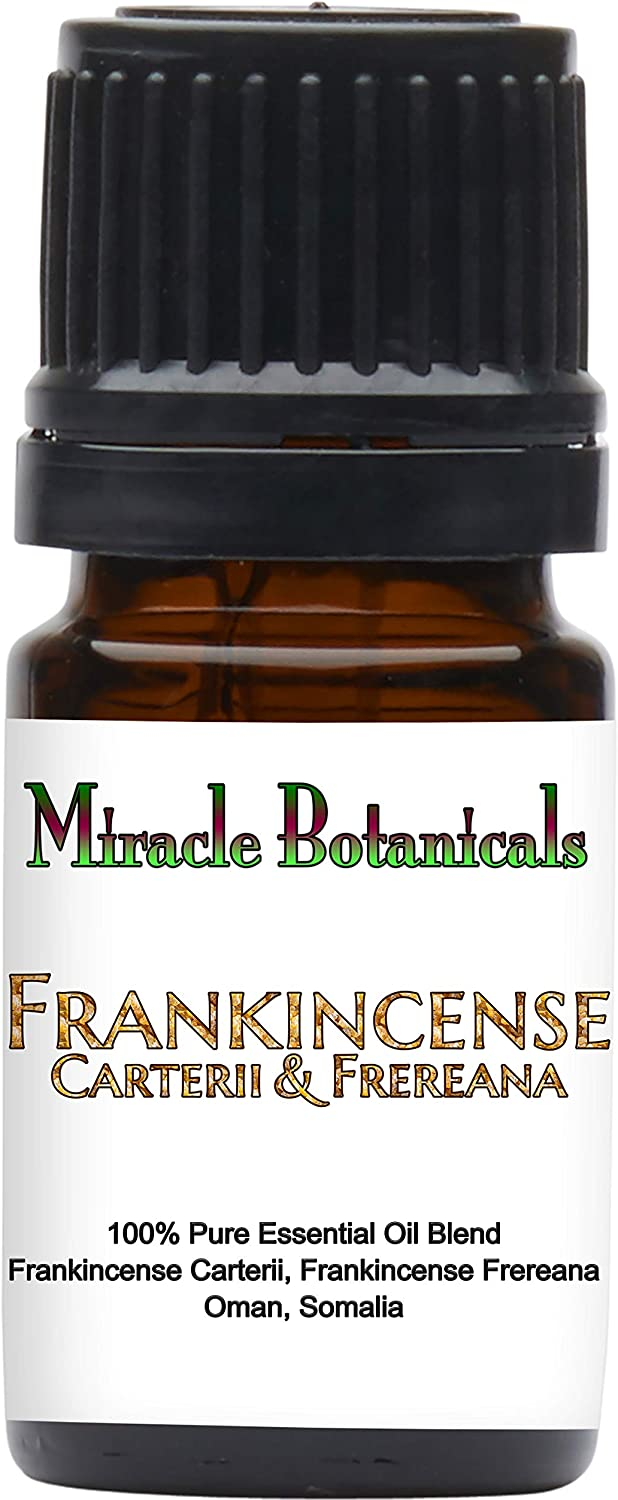 Miracle Botanicals Frankincense Carterii and Frereana Essential Oil - Therapeutic Grade - 5ml