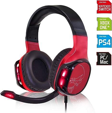 SPIRIT OF GAMER - ELITE-H60 - Red Audio Pro Gamer Auriculares ...