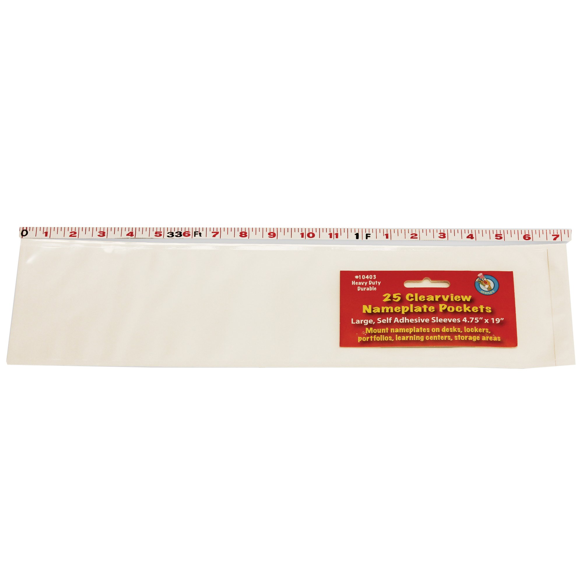 Ashley Productions ASH10403-A1 Name Plate Large Clear Pocket (Pack of 25)