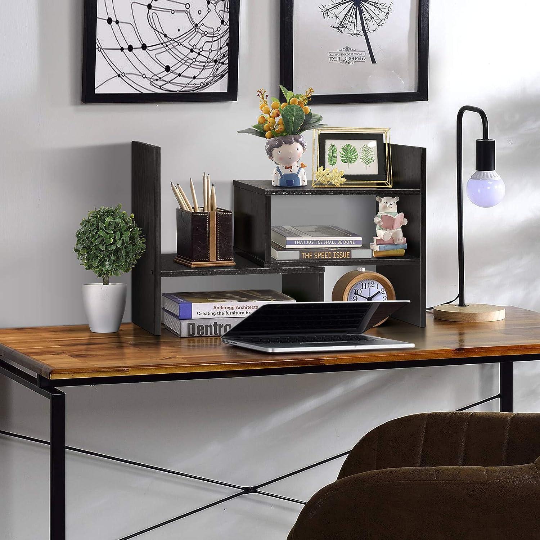 Diy Adjustable Freestanding Desktop Storage Display Shelf,desk Tidy Literature Organiser Rack,large Living Room Home Shelves Bookshelf white,black Wood Desk Shelves ,pink