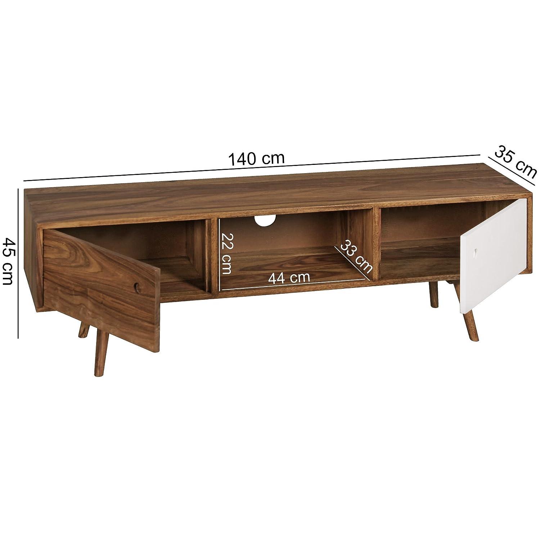 Erstaunlich Lowboard 140 Foto Von Wohnling Tv Cm Solid Wood Sheesham Tv