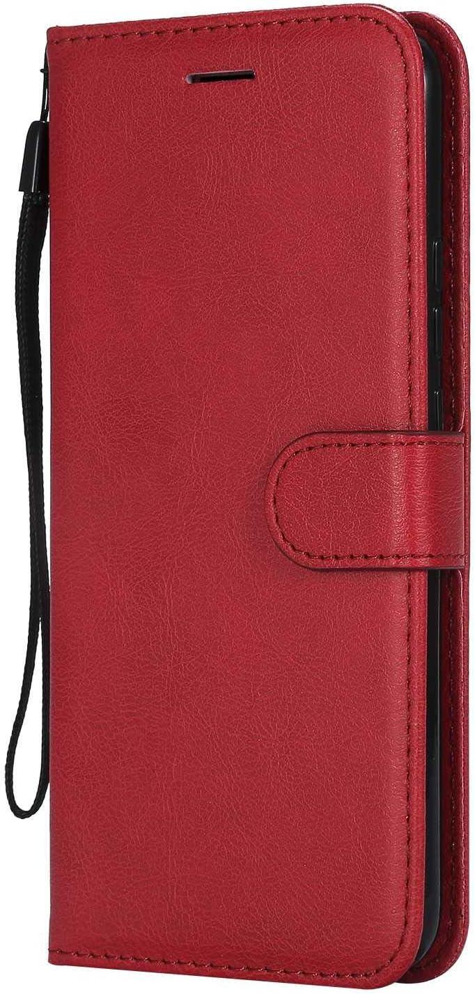 DENDICO - Carcasa para Huawei Mate 20 Lite, piel sintética, con tapa, diseño clásico de TPU para Huawei Mate 20 Lite, color rojo