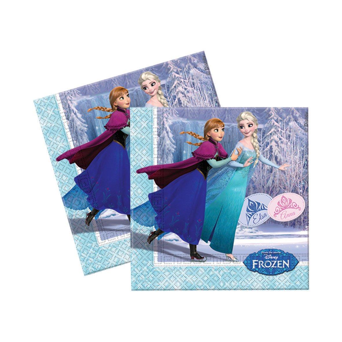 Unique Party 72107-23cm Disney Frozen Paper Plates Pack of 8 in Light Blue