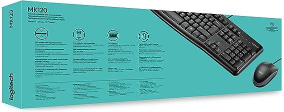 Logitech 920-002562 - MK120 Juego de escritorio con cable USB ...
