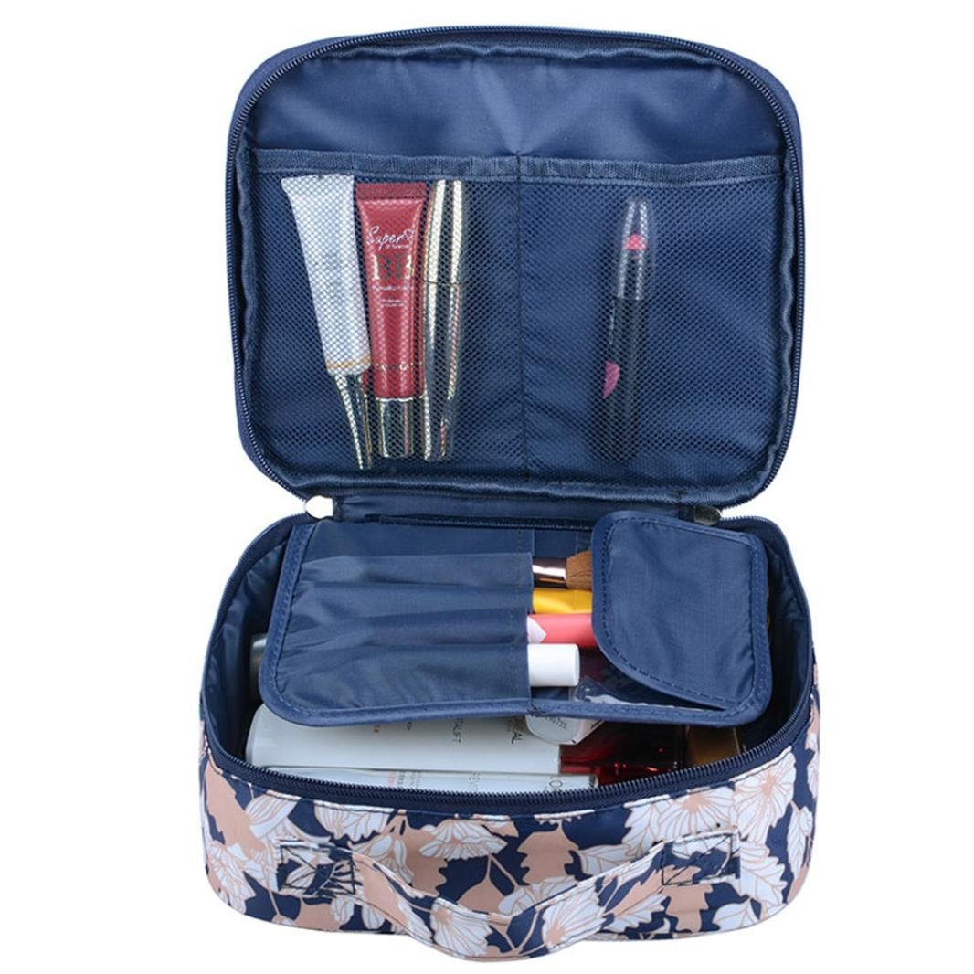 Cosmetic Bag, Brezeh Fashion Women's Waterproof Makeup Bag Travel Cosmetic Case Toiletry Wash Bag Portable Purse Handbag Brezeh Fashion Women' s Waterproof Makeup Bag Travel Cosmetic Case Toiletry Wash Bag Portable Purse Handbag (Multicolor B)