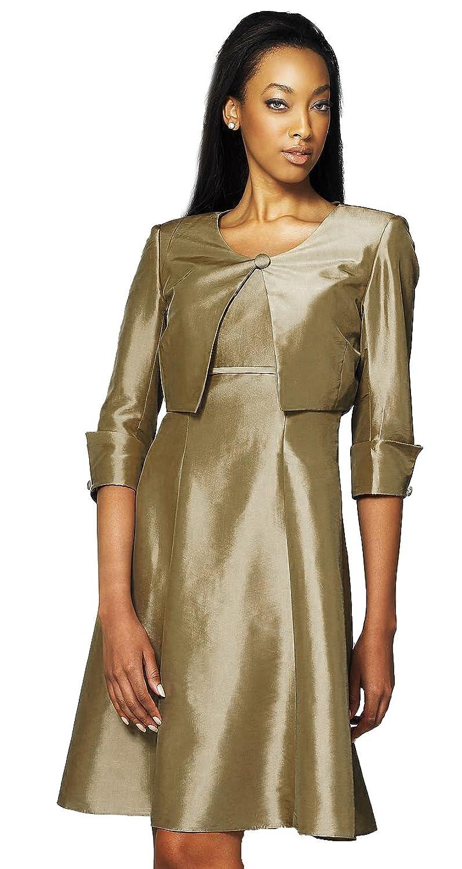 Landa Designs M800 Short Suit Social Occasion Dress, Bronze, 10