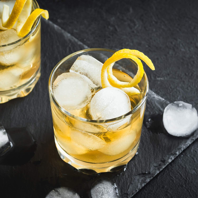 C/ócteles Cola Whisky Negro Molde Cuadrado y Redondo para Hacer Bolas de Hielo y Bandeja de Cubitos de Hielo de Diamante con Tapas para Los Beb/és Whaline 3 Piezas Bandejas de Hielo de Silicona