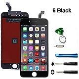 For 4.7インチiPhone 6 液晶フロントパネル交換 タッチパネル 液晶パネルセット 修理工具付き(ブラック)